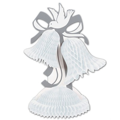 Tischdeko Hochzeitsglocken Taube