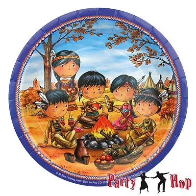 Pappteller Indianer