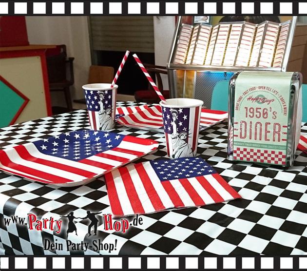 Party, Lifestyle & more... | Beispiel für einen American Diner Tisch