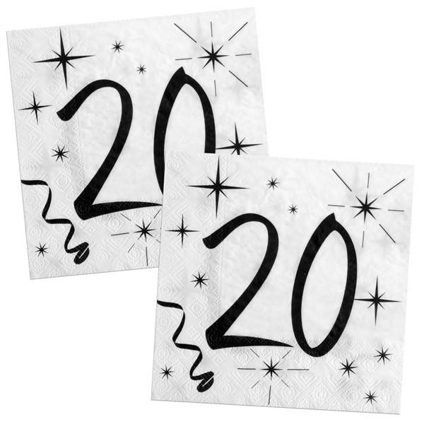 Servietten 20ster Geburtstag