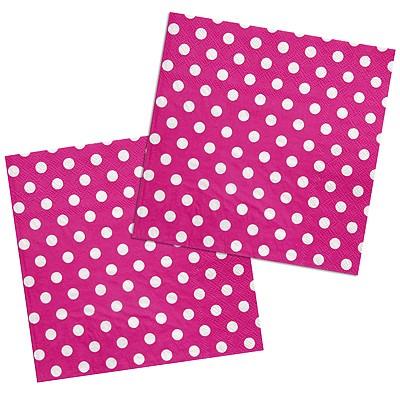 Servietten Pünktchen Polka dots pink