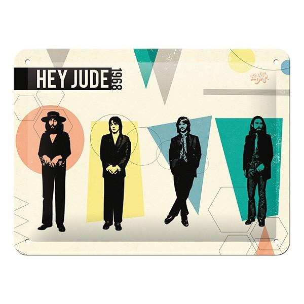 Blechschild Beatles Hey Jude