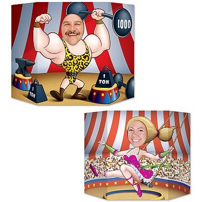 Foto-Stellwand Zirkusartisten