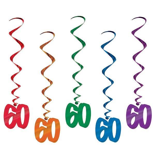 Spiralhänger 60. Geburtstag