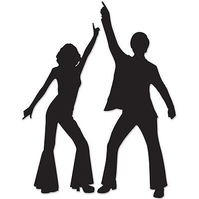 Partydeko 70er Jahre Disco Tänzer Silhouetten
