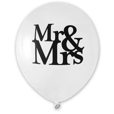 Luftballons Mr and Mrs