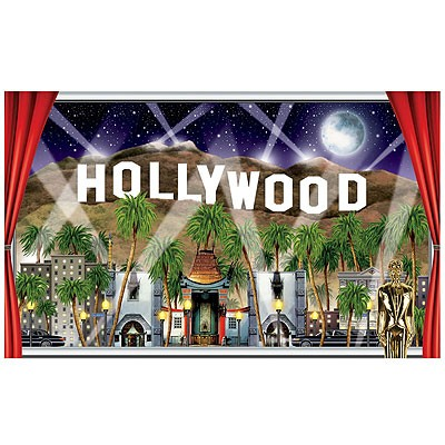 hollywood mottoparty dekoration wanddeko kino film glamour usa poster. Black Bedroom Furniture Sets. Home Design Ideas