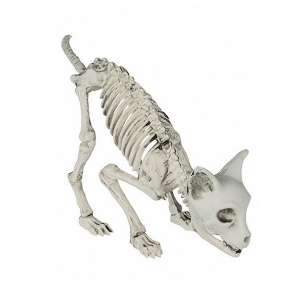 Katzenskelett Halloweendeko Kunststoff