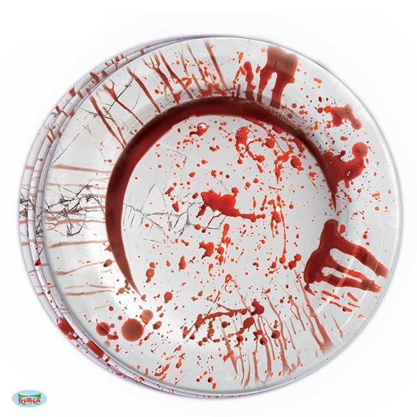 Halloween Pappteller Blutspritzer