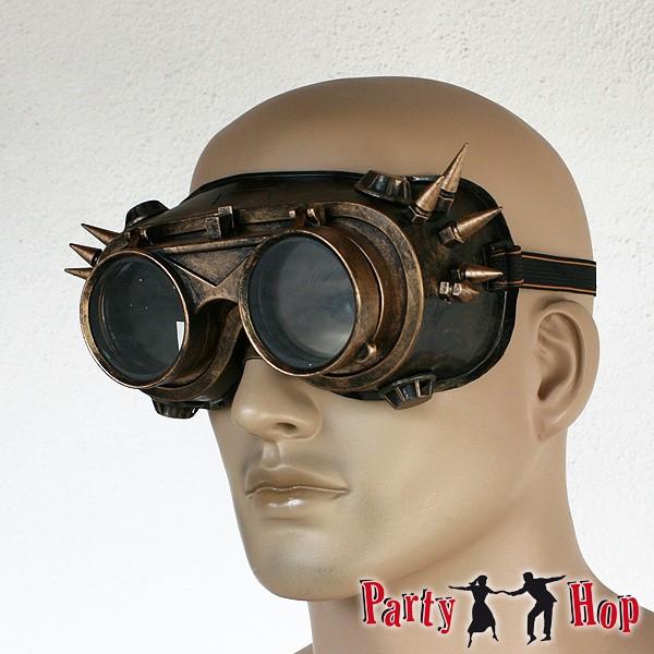 Steampunkbrille mit Nieten 2