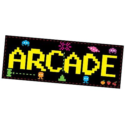 Partydeko Schild 80er Jahre Arcade