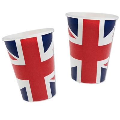 Pappbecher Flagge Gro Britannien England Partybecher