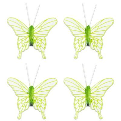 Deko-Schmetterling grün transparent