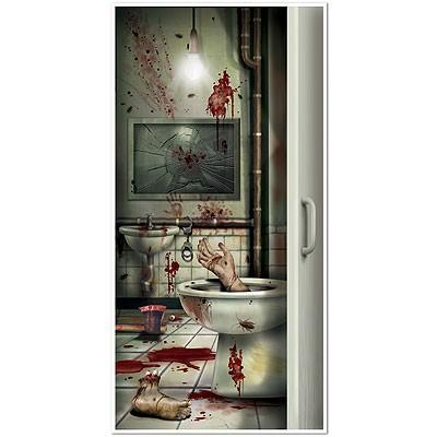 Türposter Badezimmer Halloween