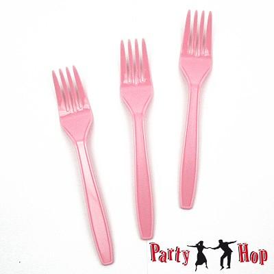Plastik-Besteck Gabel rosa