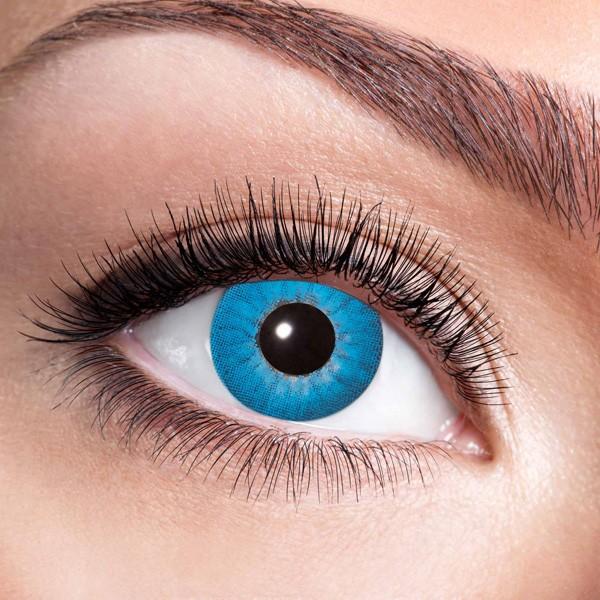 blaue kontaktlinsen electro blue f r halloween karneval. Black Bedroom Furniture Sets. Home Design Ideas