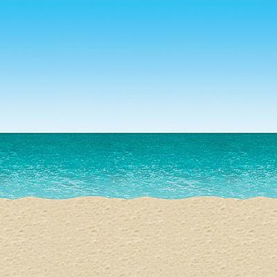 Wandverkleidung Partydeko Meer und Strand