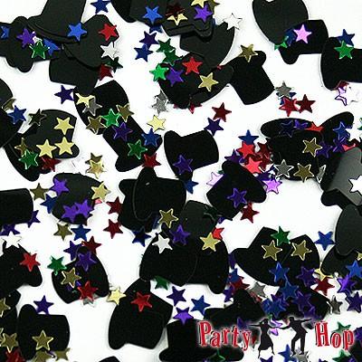 Streudeko Zylinder bunte Sterne