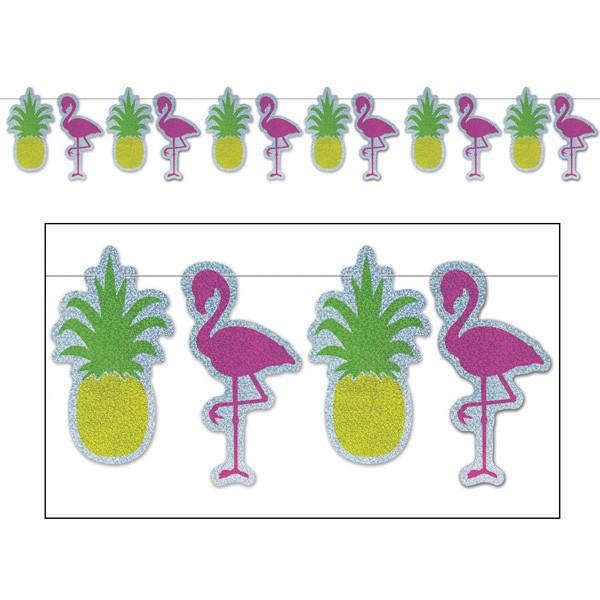 Flamingo und Ananas Partygirlande