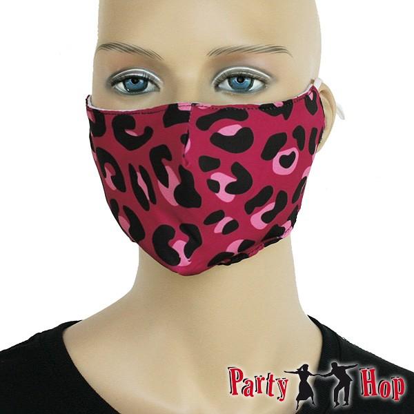 Mund Nasen Maske Pink Leo