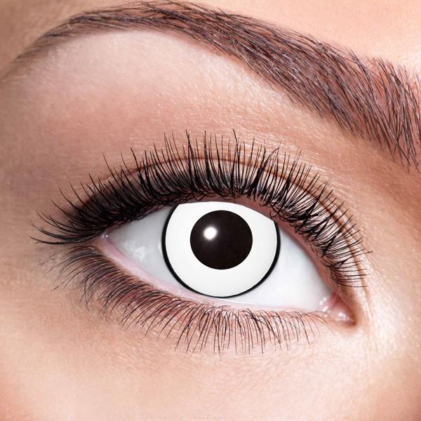 Weiße Kontaktlinsen ohne Stärke White Manson