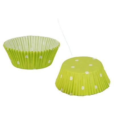Cup Cake Papierförmchen Dots Pünktchen grün