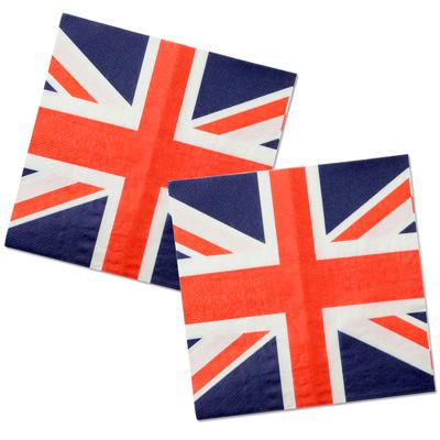 papierservietten flagge gro britannien england britische fahne union jack mottoparty tischdeko. Black Bedroom Furniture Sets. Home Design Ideas