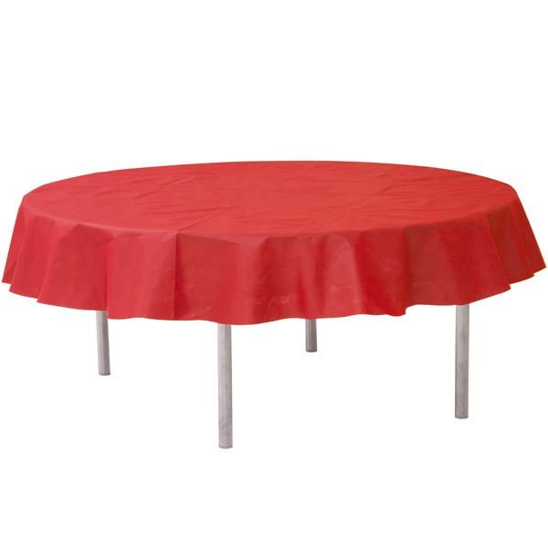 Vlies-Tischdecke rot rund