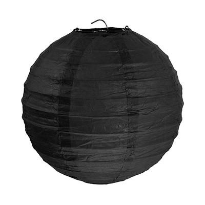 Partydeko Papierlampions schwarz groß 30cm