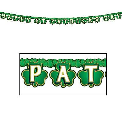 St. Patricks Day Kleeblatt Girlande
