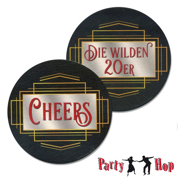 untersetzer bierdeckel f r 20er jahre party cheers die wilden 20er. Black Bedroom Furniture Sets. Home Design Ideas