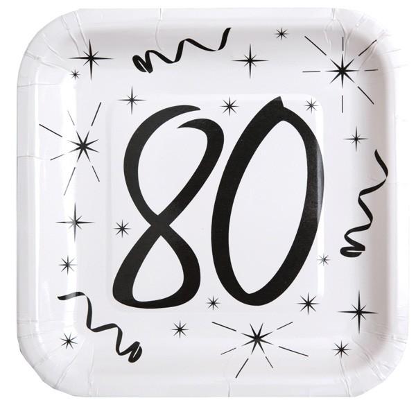 Partyteller 80. Geburtstag sw