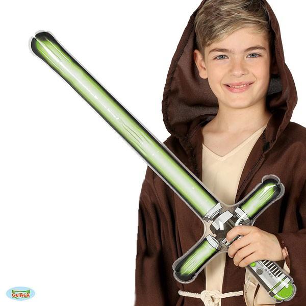 Aufblasbares Laserschwert grün