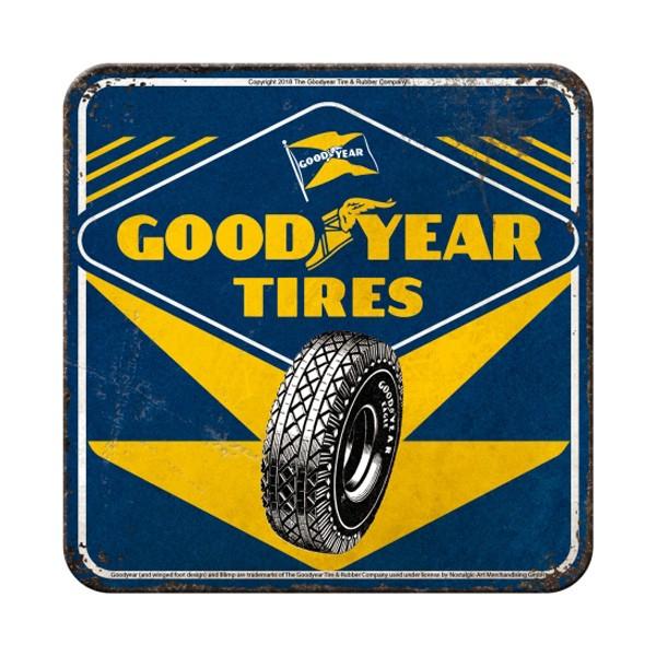 Metall Untersetzer Goodyear Tires