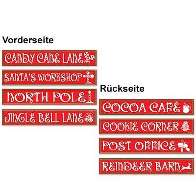 Weihnachtsdeko Nordpol-Schilder