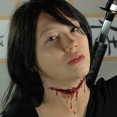 Kunstlicher Kehlenschnitt Hals Wunde Realistisch Set Latex