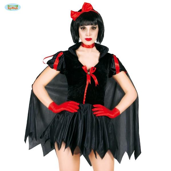 Schwarzes Schneewittchen Kostümkleid M