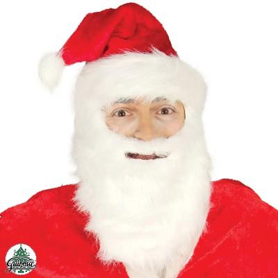 Weihnachtsmannmütze mit Bart