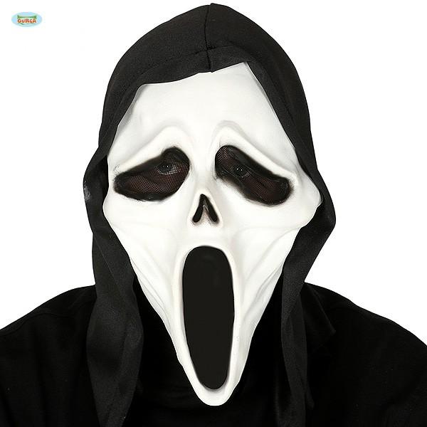 Scream Maske mit Kapuze