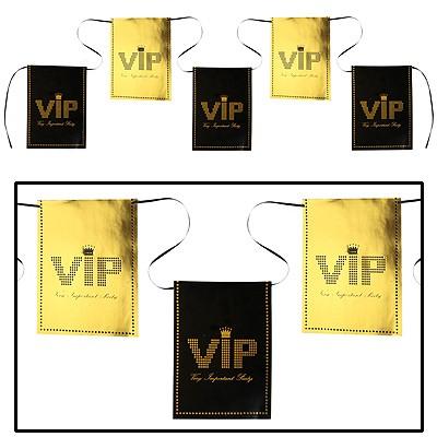 Partydeko Flaggengirlande VIP schwarz-gold