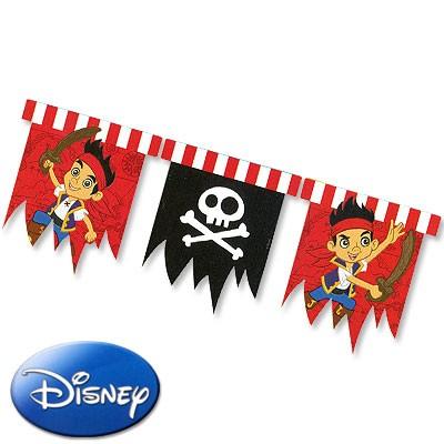 Wimpel-Girlande Jake Nimmerland Piraten