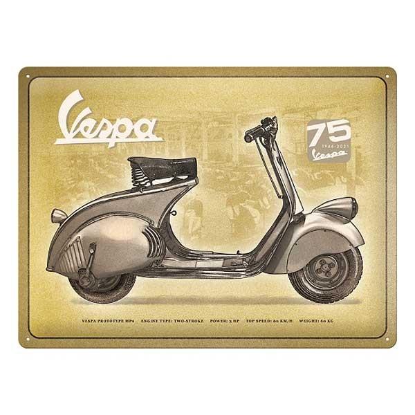 Blechschild 75 Years Vespa