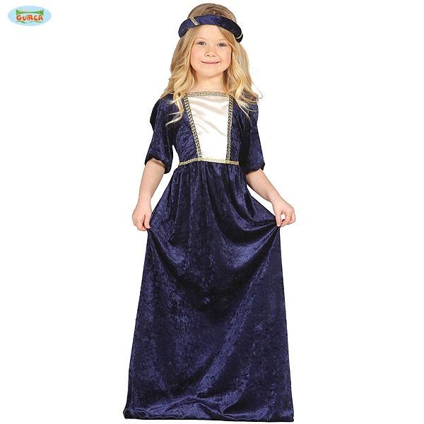 Burgfräulein Kostüm 5-6 Jahre