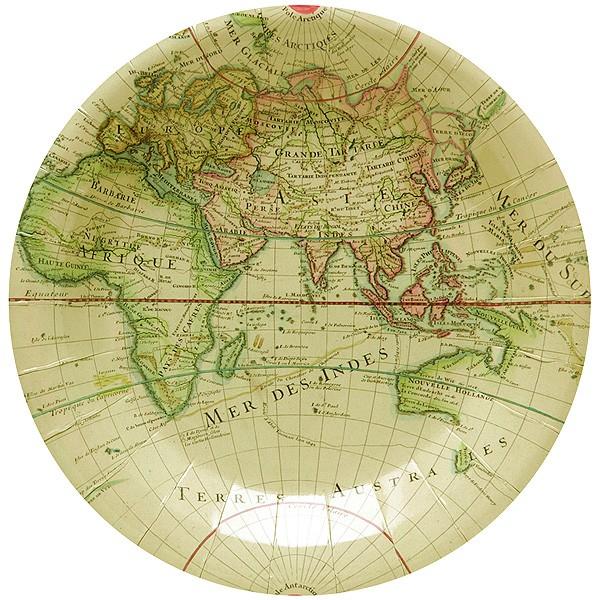Pappteller Weltreise Landkarte