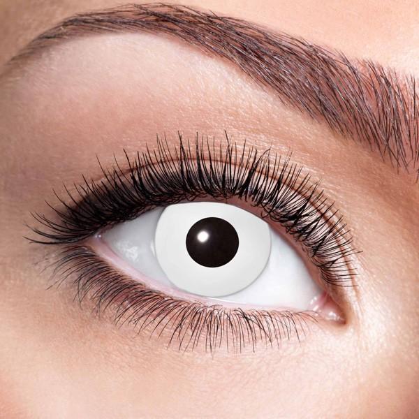 Weiße Kontaktlinsen ohne Stärke White Zombie