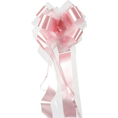 Große Dekoschleife selbstraffend rosa