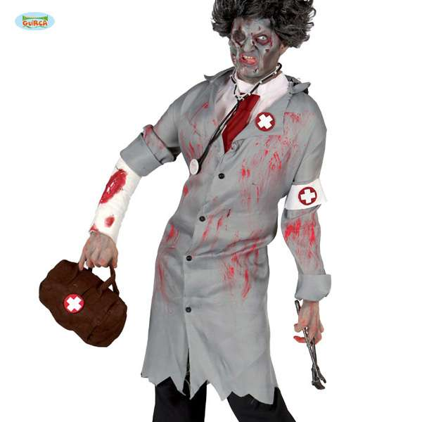 Halloween Kostumkittel Horror Arzt Zombie Doktor Mit Blutspritzern