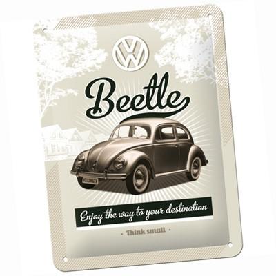 Blechschild VW Beetle