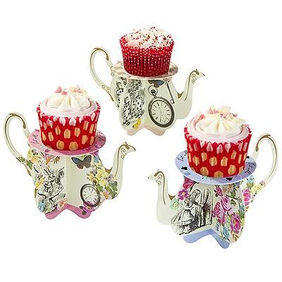 Alice im Wunderland Party Teekannen Cupcake Ständer
