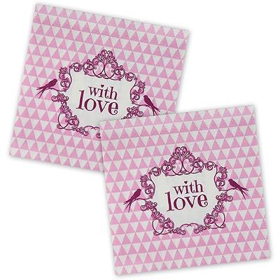 Servietten With Love rosa